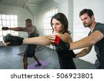 attractive athletic lifestyle... | Shutterstock . vector #506923801