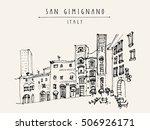 San Gimignano  Tuscany  Italy....