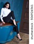 sexy beautiful woman dark... | Shutterstock . vector #506926561