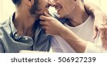 gay couple love home concept | Shutterstock . vector #506927239