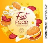 fast food elements   vector... | Shutterstock .eps vector #506928469
