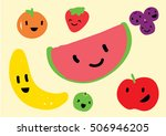 fruit set in a child style | Shutterstock .eps vector #506946205