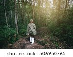young women walking on the... | Shutterstock . vector #506950765