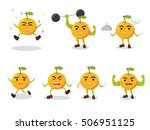orange cartoon set illustration ... | Shutterstock .eps vector #506951125
