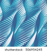 3d abstract curved lines... | Shutterstock . vector #506954245