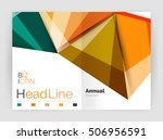 business abstract geometric... | Shutterstock .eps vector #506956591