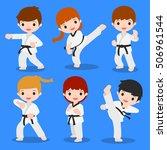 cute cartoon of martial arts | Shutterstock .eps vector #506961544