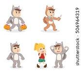 werewolf cartoon set... | Shutterstock .eps vector #506964319