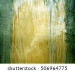 weathered green fiberboard...   Shutterstock . vector #506964775