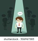 business concept  businessman... | Shutterstock .eps vector #506967385