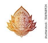 vector ornamental lotus flower  ... | Shutterstock .eps vector #506968924