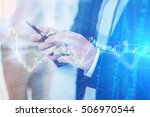 closed up business man using... | Shutterstock . vector #506970544