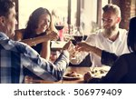 restaurant chilling out classy... | Shutterstock . vector #506979409