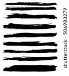 vector grunge brushes. strip... | Shutterstock .eps vector #506983279