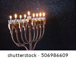 low key image of jewish holiday ... | Shutterstock . vector #506986609