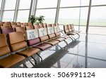 waiting area at airport gate....   Shutterstock . vector #506991124