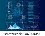 digital user interface . mixed... | Shutterstock . vector #507000361