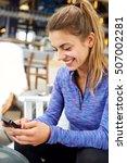 close up portrait of happy... | Shutterstock . vector #507002281