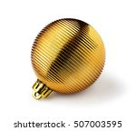 Golden Christmas Ball Isolated...