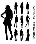 women silhouettes   Shutterstock .eps vector #50700397