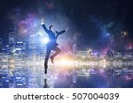 businessman celebrating success ... | Shutterstock . vector #507004039