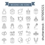 25 wedding line icons  can be... | Shutterstock .eps vector #507005221