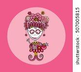 fun doodle doll vector...   Shutterstock .eps vector #507005815