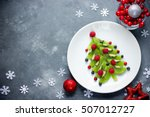 funny edible christmas tree ... | Shutterstock . vector #507012727