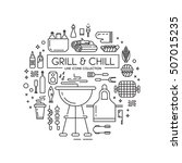 barbeque party illustration | Shutterstock .eps vector #507015235