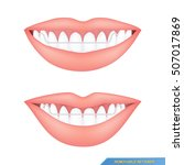 mouth and healthy teeth with... | Shutterstock .eps vector #507017869