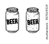 Vector Beer Drawing. Hand Draw...