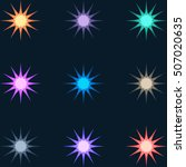 9 Colored Snowflakes. Sets...