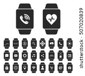 smartwatch icon set with... | Shutterstock .eps vector #507020839