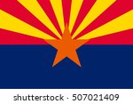 flag of arizona state  united... | Shutterstock .eps vector #507021409