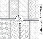 set of eight seamless patterns. ... | Shutterstock .eps vector #507024085