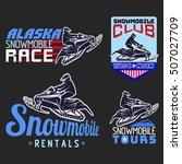 winter sport snowmobile logo... | Shutterstock .eps vector #507027709