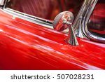 close up of side mirror of red... | Shutterstock . vector #507028231