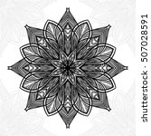 mandala. round ornament pattern. | Shutterstock .eps vector #507028591