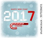 happy new year gift card.... | Shutterstock .eps vector #507028651
