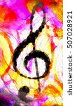 abstract music theme background ... | Shutterstock . vector #507028921