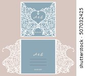 wedding invitation or greeting... | Shutterstock .eps vector #507032425