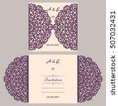lazercut vector wedding... | Shutterstock .eps vector #507032431