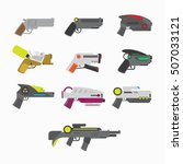 weapons vector guns collection. ...