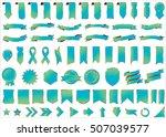 ribbon banner label green... | Shutterstock .eps vector #507039577