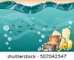 cartoon vector underwater... | Shutterstock .eps vector #507042547