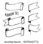 vintage ribbon banners  hand... | Shutterstock .eps vector #507043771