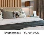 modern bedroom design with...   Shutterstock . vector #507043921