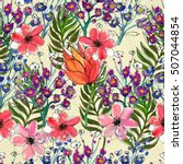 seamless pattern with colorful... | Shutterstock . vector #507044854