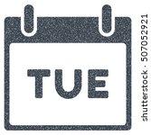 tuesday calendar page grainy... | Shutterstock .eps vector #507052921