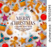 christmas greeting card made... | Shutterstock .eps vector #507053395